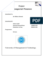 Managerial Finance Basic Terms