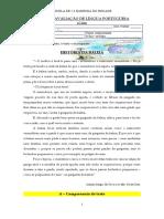 FICHA DE AVALIAÇÃO DE LÍNGUA PORTUGUESA