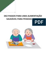 DEZ PASSOS PARA UMA ALIMENTAÇÃO SAUDÁVEL PARA PESSOAS IDOSAS