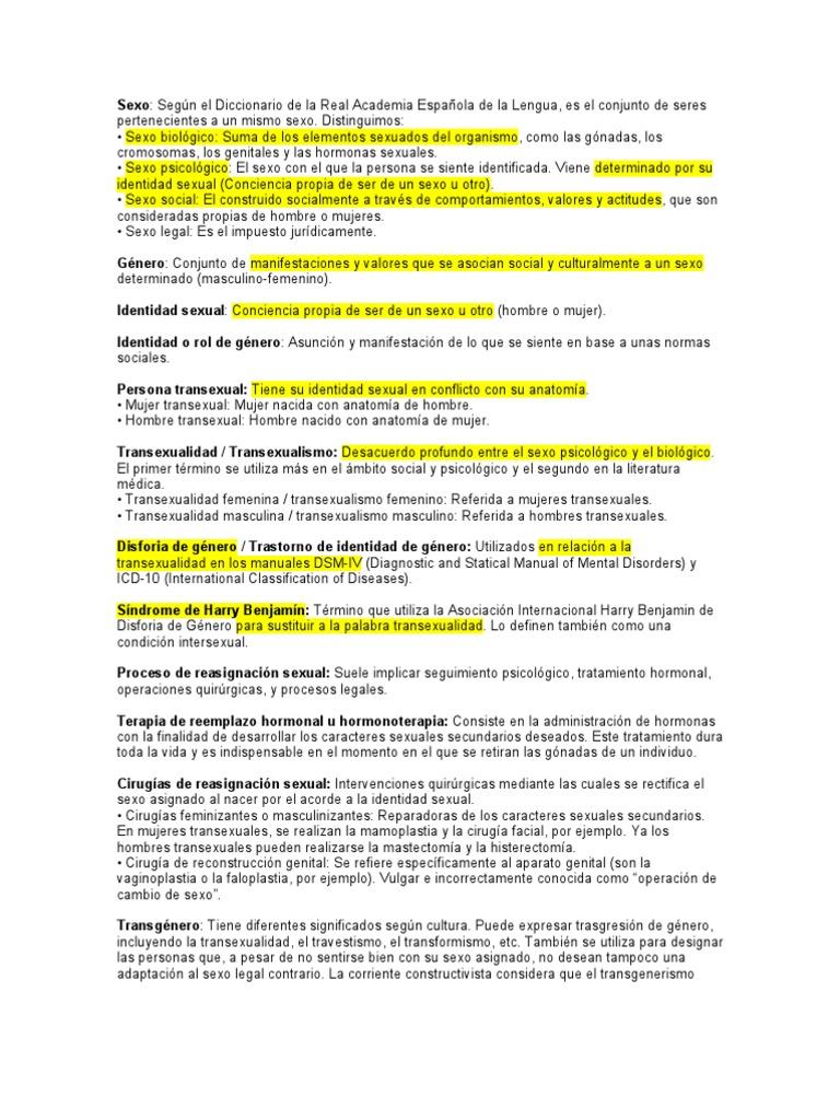 Definiciones Orientación Sexual