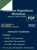 Academic Regulations Presentation - Vijayawada