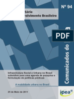 IPEA - A Mobilidade Urbana No Brasil