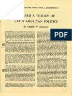 """Toward a Theory of Latin American Politics"" C.W. Anderson (1964)"