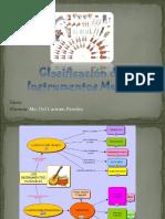 Clasificación de los Instrumentos Musicales I