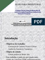 SEMINÁRIO SIG PREFEITURAS TRANSPORTE