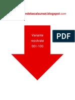 Romana - Subiectul II - Variante rezolvate 001-100 - An 2008