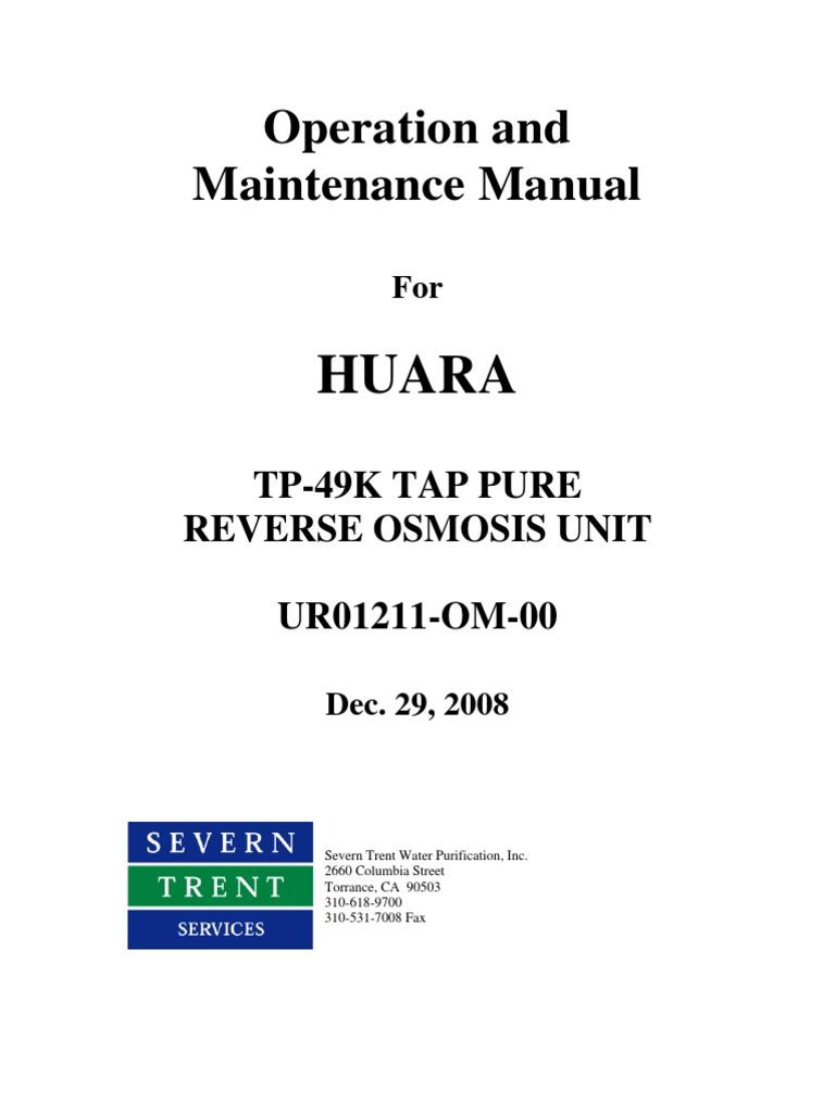 Operation and Maintenance Manual | Membrane | Carbonate