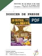 Dossier de presse salon de la Bulle d'or // 2008
