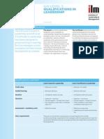 ILM L3 Qualfications Leadership