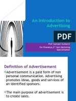 An Introduction to Advertising