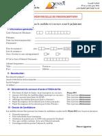 Fiche Pre Inscription Ensa Fes2011