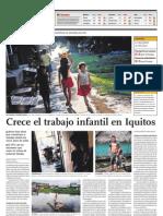 Crece El Trabajo Infanitl en Iquitos