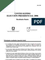 Conteo Rápido Nacional GEA-ISA 2006