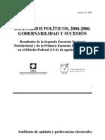 Encuesta Nacional GEA-ISA (agosto de 2006)
