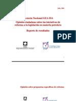 Encuesta Nacional GEA-ISA (julio de 2008)