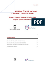 Encuesta Nacional GEA-ISA (marzo de 2009)