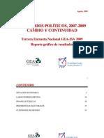 Encuesta Nacional GEA-ISA (agosto de 2009)