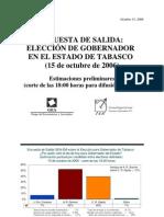 Exit Poll GEA-ISA en Tabasco (octubre de 2006)