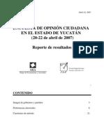 Encuesta GEA-ISA en Yucatán (abril de 2007)