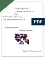 Moleculas Organicas e Inorganic As.