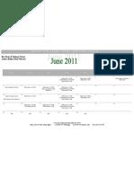June 2011 Newsletter Web Calendar