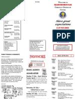 Newsletter 5 June 2011