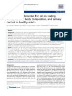 Effects of supplemental fish oil on resting metabolic rate, body composition, and salivary cortisol in healthy adults