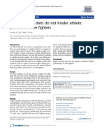 Higher-protein diets do not hinder athletic perform in male fighters