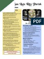 Bulletin for MSLRP June 5, 2011