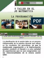 Sesion Taller Area matematica  Programacion Anual y Unidades