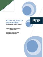 Manual de Practicas de Optica y Fisica Moderna