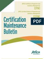 CPIM_MaintenanceBulletin