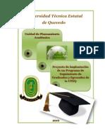 Proyecto de Implantación del Programa de Seguimiento de Graduados UTEQ (Reparado)