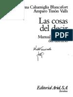 Calsamiglia y Tuson-Las Cosas Del Decir-Capitulos 8 y 10