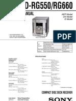 Rg 550 Service Manual