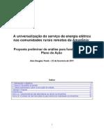O Desafio da Universalização dos Serviços Elétricos na Amazônia