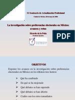 Investigación sobre preferencias electorales en México