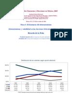 Abstencionismo y volatilidad en 2003