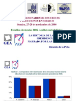 La elección presidencial 2006 narrada por encuestas