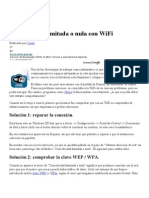 Conectividad Limitada o Nula Con WiFi