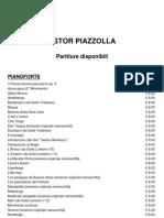 Partiture Astor Piazzolla