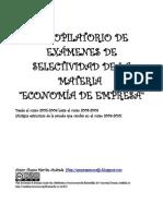 Examenes Selectividad de JUNIO 2006 a SEPTIEMBRE 2009