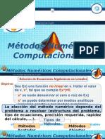 Métodos Para Resolucion de ecuaciones No lineales
