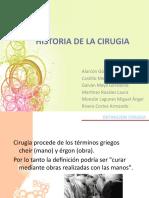 Historia de La Cirugia