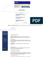 Ácido Cítrico - Apuntes de Química