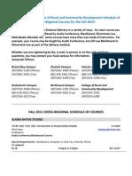 Web Fall 2011 Schedule