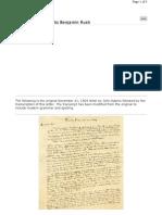 John Adam's Letter
