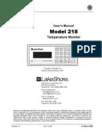 LakeShore 218 Manual