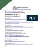 Anomalias en Neonatos