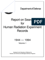 Report Search on Human Radiation Experiments Records